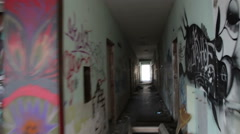 Lost and escape from an abandoned place Stock Footage