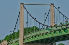 Stock Photo of France, the suspension bridge of Triel Sur Seine