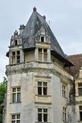 Stock Photo of France, renaissance castle of Puyguilhem in Dordogne