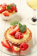 Stock Photo of Custard tart with fruit