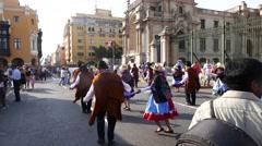 Canival, Mardi Gras, Centra, Downrown, Lima, Peru Stock Footage