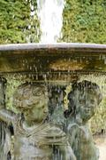 France,  water avenue in Versailles Palace park - stock photo