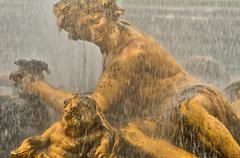 France, a fountain in the Versailles Palace park Stock Photos