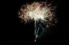 Beautiful colorful fireworks Stock Photos