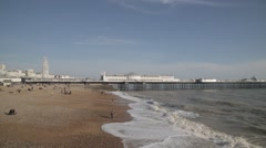 Brighton Beach Town Seafront | HD 1080 Stock Footage