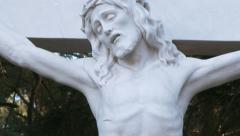 Jesus on the Cross 3 Tilt Up Stock Footage