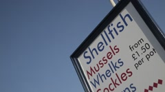 Shellfish Sign | HD 1080 - stock footage