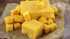 Cheddar (not loopable) Stock Footage