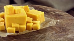 Portion of Cheddar (not loopable) Stock Footage