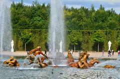 France, Apollo fountain in the Versailles Palace park - stock photo