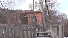Well water in an old abandoned wooden village in central Europe, in woods, 4k Stock Footage
