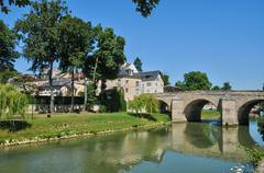 France, picturesque city of l Isle Adam in Isle de France Stock Photos