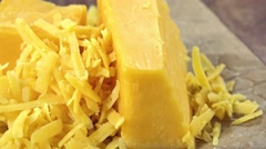 Rotating grated Cheddar (not loopable) Stock Footage