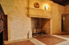 France, renaissance castle of Puyguilhem in Dordogne - stock photo