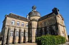 France, old hospital of Hautefort - stock photo