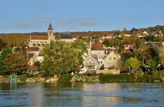 Ile de France, city of Triel sur Seine Stock Photos