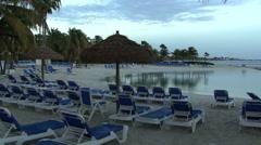 Aruba Beach Resort Empty Stock Footage