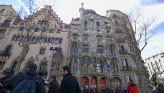 Barcelona  Gaudi   Casa Batllo Stock Footage