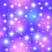 Abstract seamless pattern with star on blue background. Vector - stock illustration
