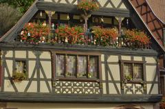 France,  small village of Kaysersberg in Alsace - stock photo