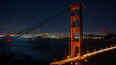 HD Downtown San Francisco And Golden Gate Bridge Timelapse Stock Footage