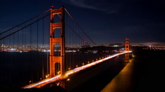 HD The Golden Gate Bridge Timelapse Stock Footage