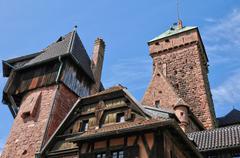 France; Haut Koenigsbourg castle in Bas Rhin - stock photo