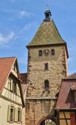 Stock Photo of Haut Rhin, village of Bergheim  in Alsace