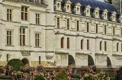 Stock Photo of renaissance castle of Chenonceau in Indre et Loir