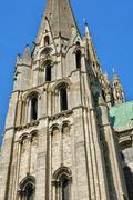 Stock Photo of France,  the Chartres cathedral in  Eure et Loir