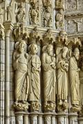 France,  the Chartres cathedral in  Eure et Loir Stock Photos