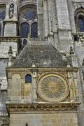 France,  the Chartres cathedral in  Eure et Loir - stock photo