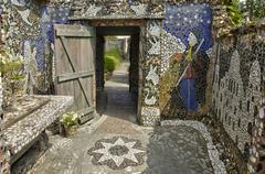 Stock Photo of La Maison Picassiette, an old earthenware mosaic in Chartres