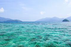 Blue sea and seascape veiw, Lipe island, Thailand - stock photo