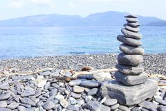 pebble on island, Lipe island, Thailand - stock photo