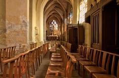 France, historical church of Triel sur Seine Stock Photos