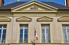 France, the city hall of Themericourt Stock Photos