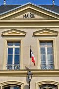 France, the city hall of Themericourt - stock photo