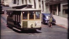 1804 - trolley car in San Francisco - vintage film home movie Stock Footage