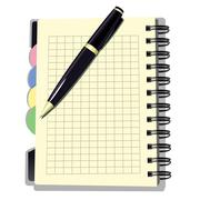 Appointment Book with Pen Stock Illustration