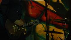 Alternative Indie rock Guitar player Stock Footage