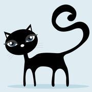Black Cat Stock Illustration