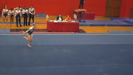 Stock Video Footage of Amazing slow motion floor routine - gymnastics