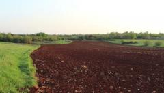 Red soil in green Stock Footage