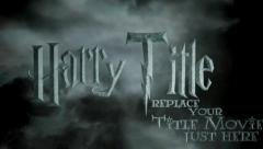 Harry Movie Title text - stock after effects