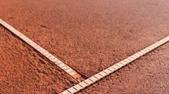 Red clay tennis court Stock Footage