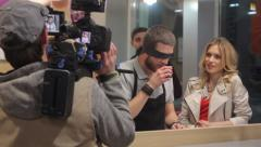 Stock Video Footage of The scene in the cafe, Filming commercial, behind the scene