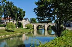 France, the city of L Isle Adam - stock photo