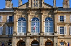 France, city hall of Sees in Normandie - stock photo