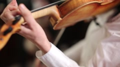 Close-up of musician playing violin - stock footage